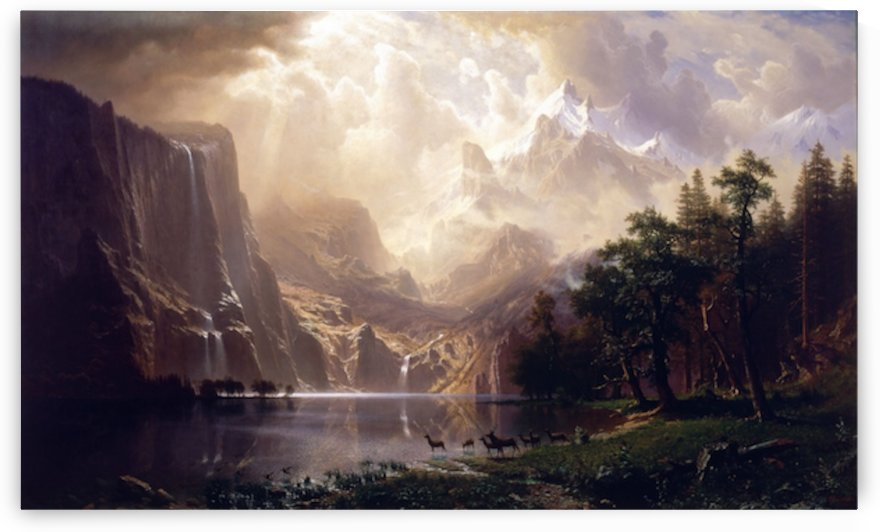 Bierstadt - Among the Sierra Nevada by Bierstadt
