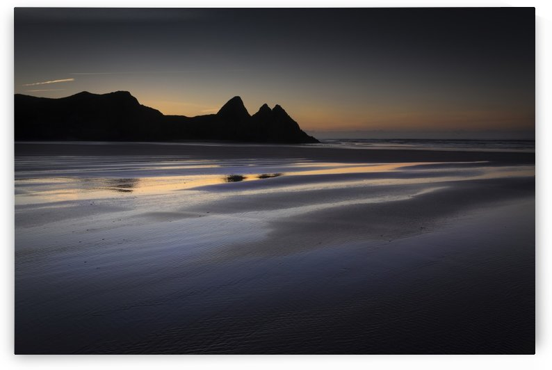 Daybreak at Three Cliffs Bay by Leighton Collins