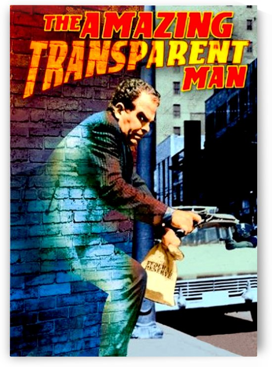 The Amazing Transparent Man 1960 Poster 1 by Culturio