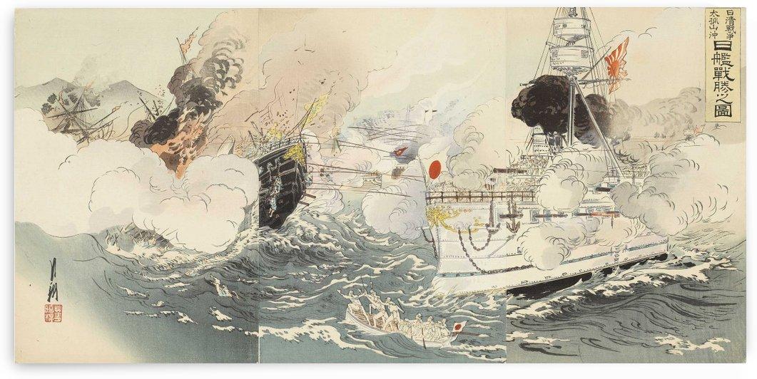 Battle of Taikozan Oki by Ogata Gekko