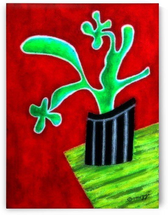 Cactus on Green Table by Jayne Somogy