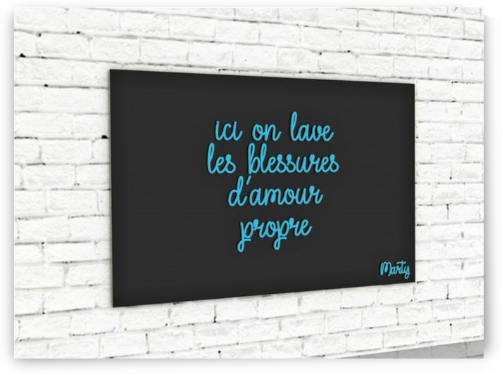 ici on lave les blessures d amour propre by Marty Legriffon dit Marty