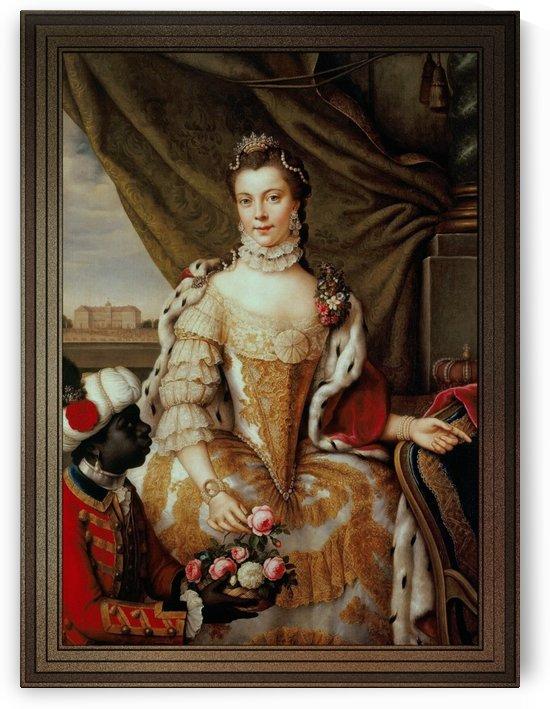 Queen Charlotte When Princess Sophie Charlotte of Mecklenburg-Strelitz by Johann Georg Ziesenis by xzendor7
