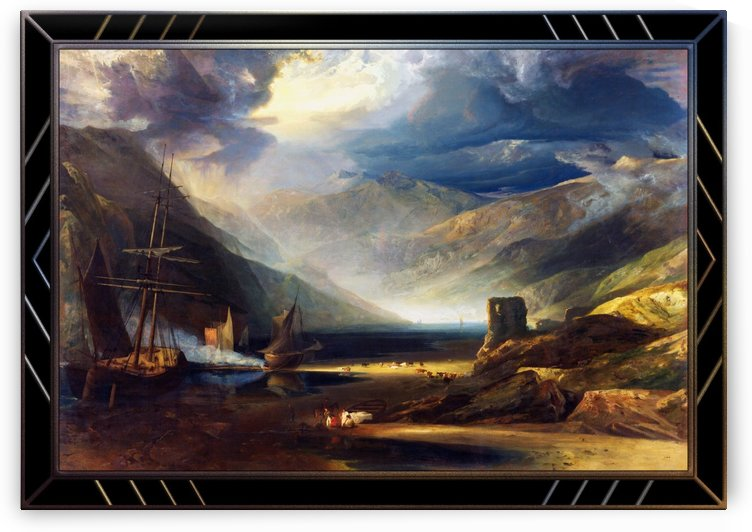 A Scene on the Coast Merionethshire by Anthony Vandyke Copley Fielding by xzendor7