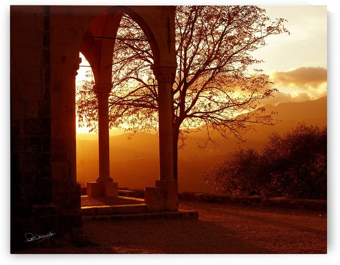 Montegrazie Church Sunset by Shadow and Form