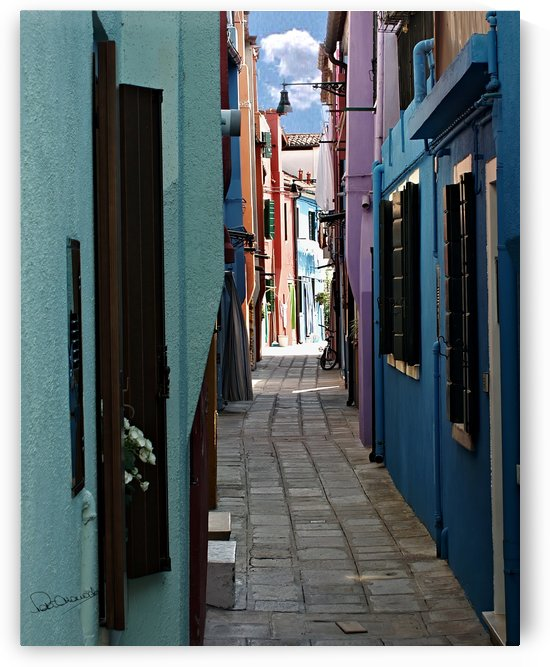 Burano Island Back Street by Shadow and Form