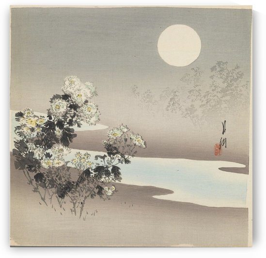 Lake in the light of the moon by Ogata Gekko