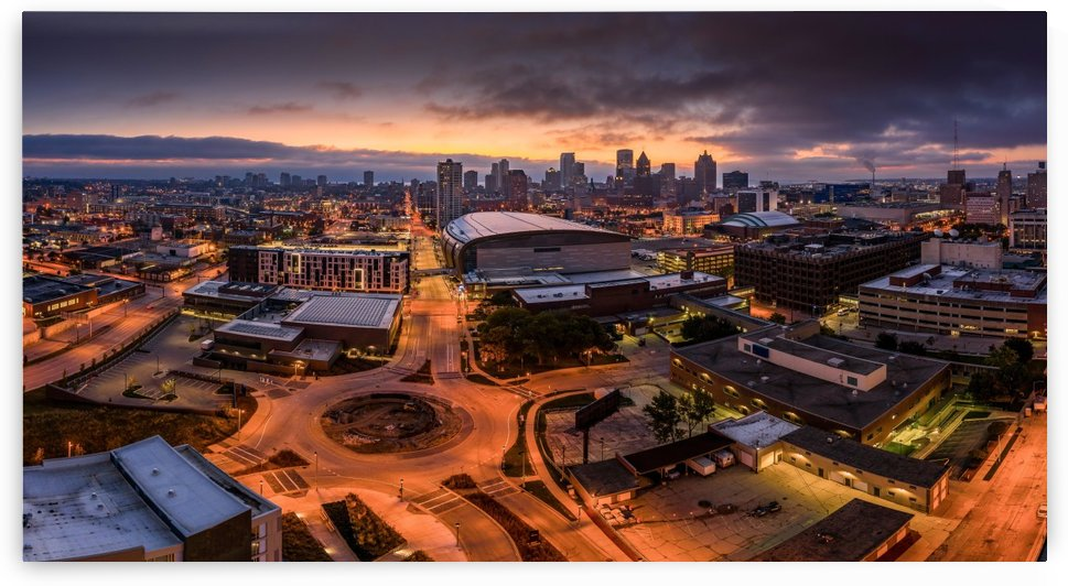 Milwaukee Morning Glow by Aximagery Media
