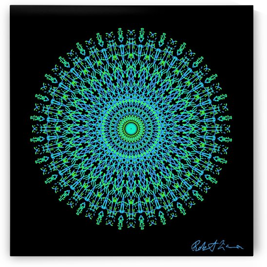 Limited Edition - Turquoise Graphic Art Healing Mandala 1003 by Robi