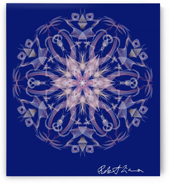 Limited Edition - Blue Graphic Art Healing Mandala 1005 by Robi
