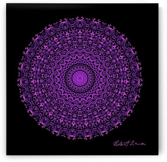 Purple Graphic Art Healing Mandala 7001 by Robi