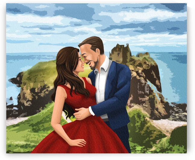 Dunnotar Couple in Love Scotland Adventures by Nicole Palada