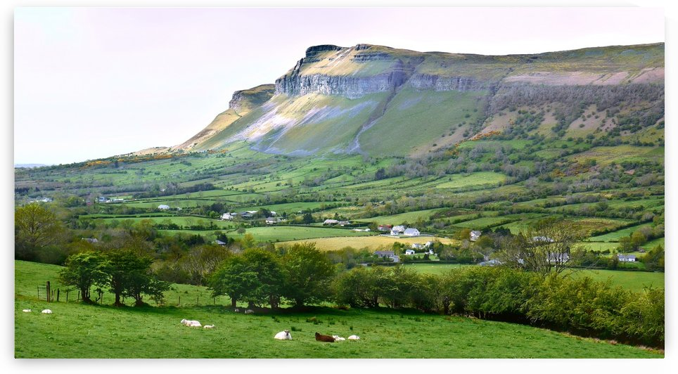 Morning Sun on Benbulbin - Ireland by Lexa Harpell