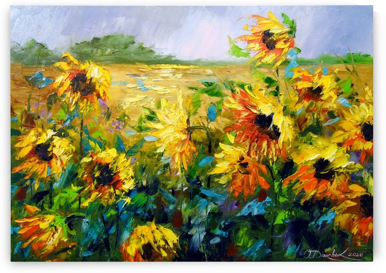 Wind and sunflowers by Olha Darchuk