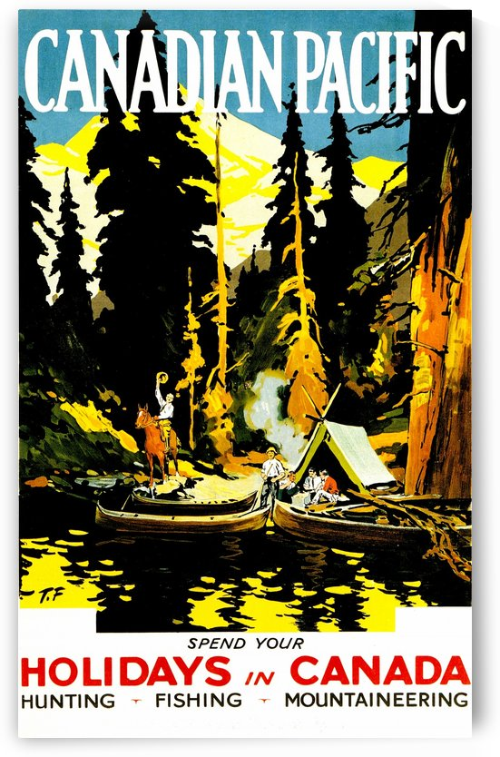 Vintage Travel - Outdoorsman Canadian Pacific by Culturio