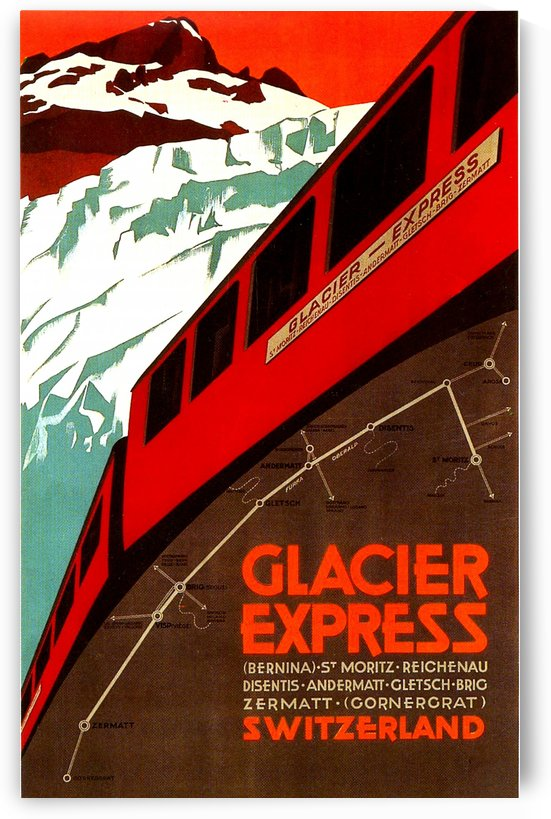 Vintage Travel - Glacier Express by Culturio