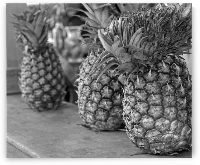 Sweet Pineapples B&W by Gods Eye Candy