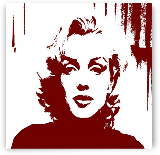Marilyn Monroe Pop Art by Matthew Lacey