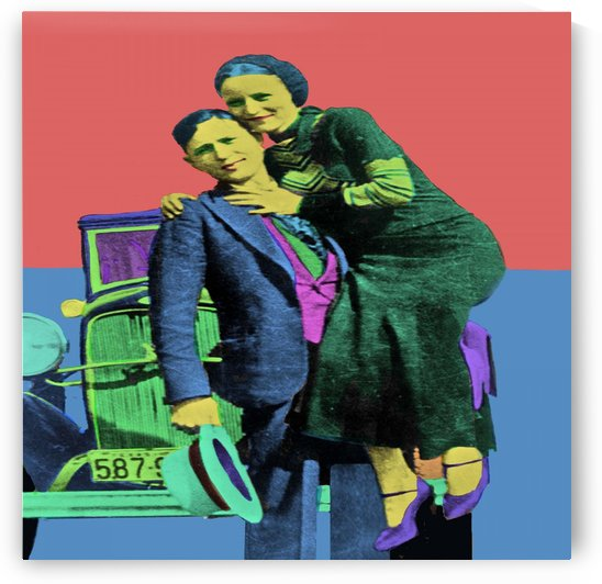 Bonnie and Clyde Pop Art by Matthew Lacey