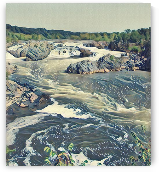 Potomac Eddys at Great Falls  by Bob McCulloch