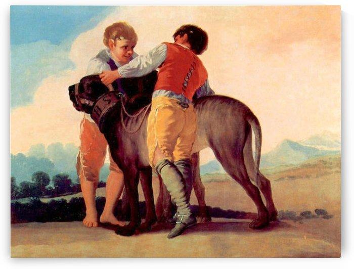 Boys with blood dogs by Goya by Goya