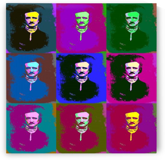 Edgar Allan Poe Pop Art by Matthew Lacey