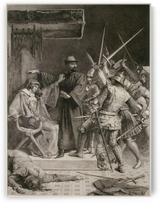 Vie d'Etienne Marcel d'après J. Paul Laurens [Etienne Marcel protège le régent] by Frédéric-Auguste Laguillermie
