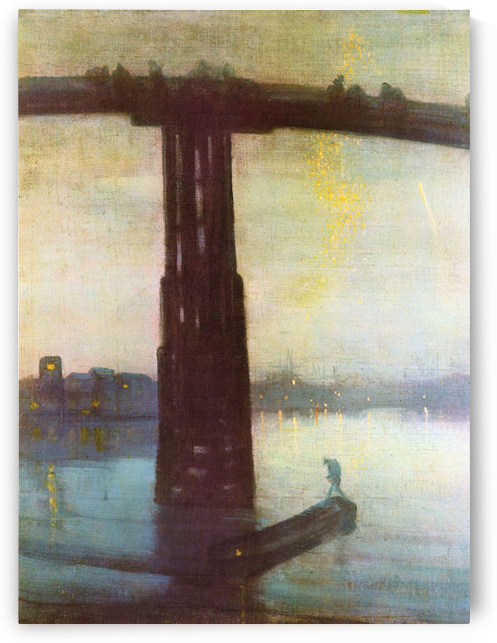 The old Battersea Bridge by James Abbot McNeill Whistler by James Abbot McNeill Whistler