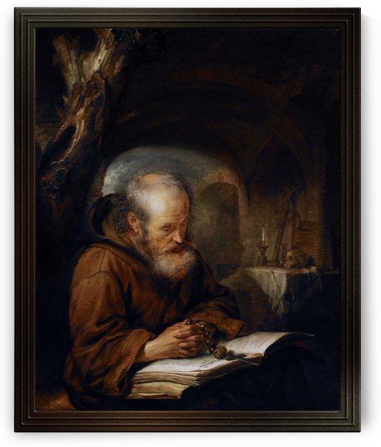 A Hermit Praying by Gerrit Dou by xzendor7