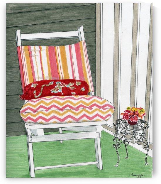 Beach Chair Sans Beach by Jayne Somogy