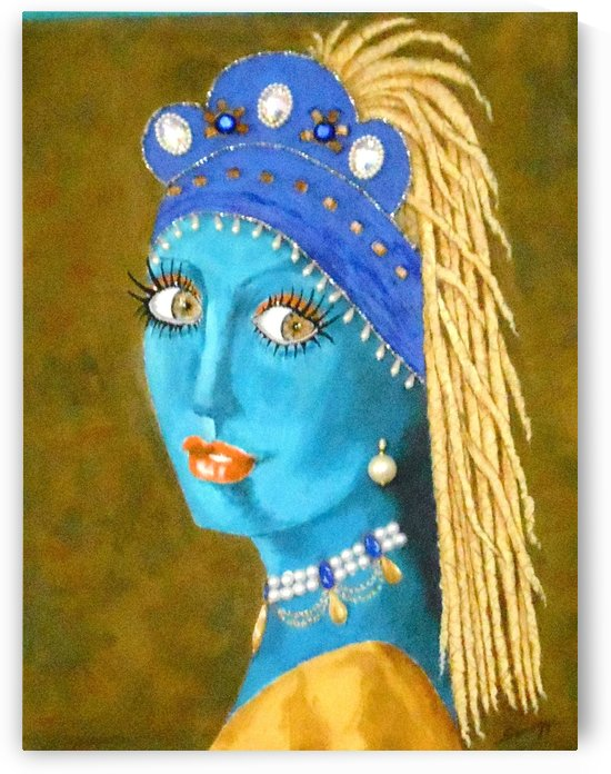 Belly Dancer with a Pearl Earring by Jayne Somogy