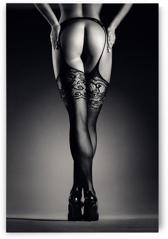 Sensual legs in stockings by Johan Swanepoel