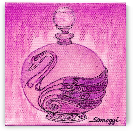 Bottled Fuchsia Swan by Jayne Somogy