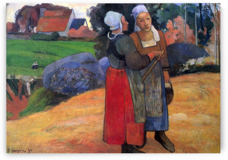 Breton Famers by Gauguin by Gauguin