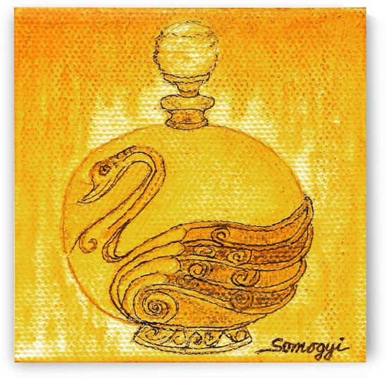 Bottled Gold Swan by Jayne Somogy