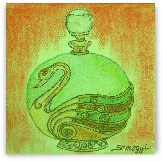 Bottled Green Swan by Jayne Somogy