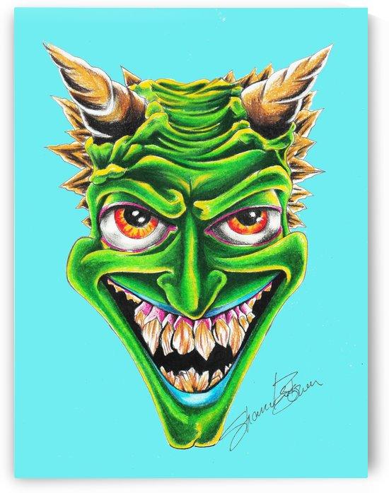 green devil head blu by Shanrekia Bower