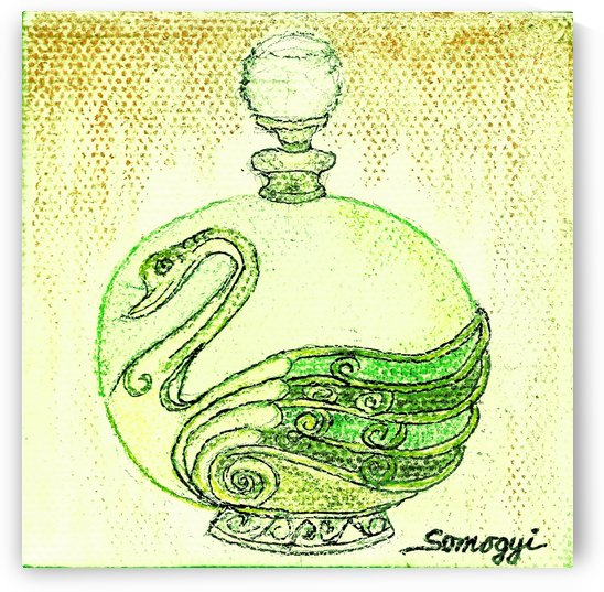 Bottled Lemon Swan by Jayne Somogy