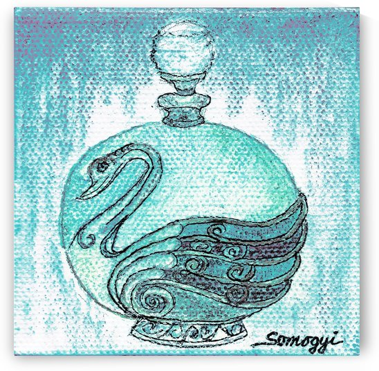 Bottled Turquoise Swan by Jayne Somogy