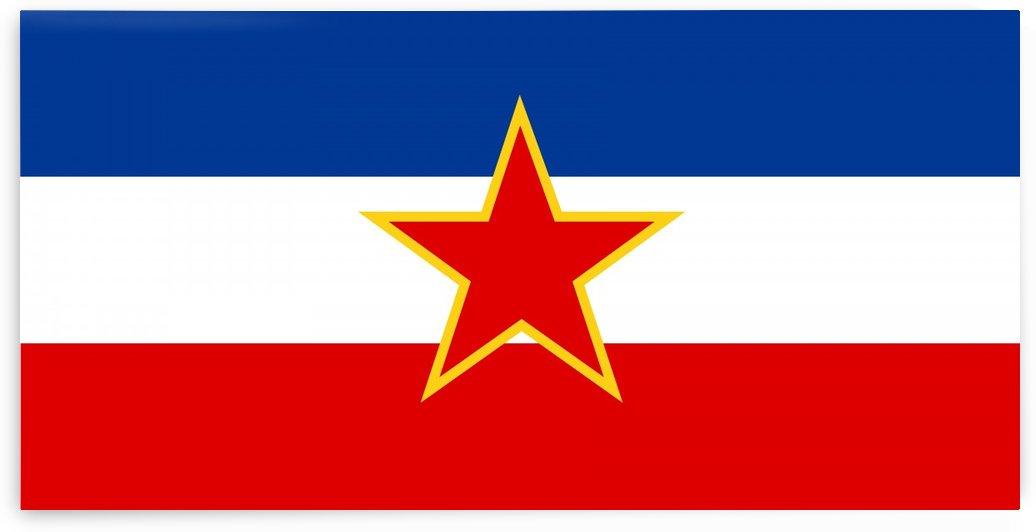 Yugoslavia Socialist Federal Republic Flag 1945-1992 by Fun With Flags