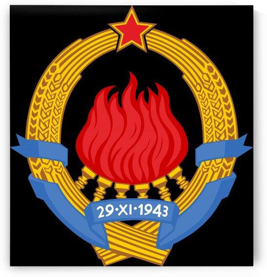 Yugoslavia Socialist Federal Republic Emblem 1945-1992 by Fun With Flags