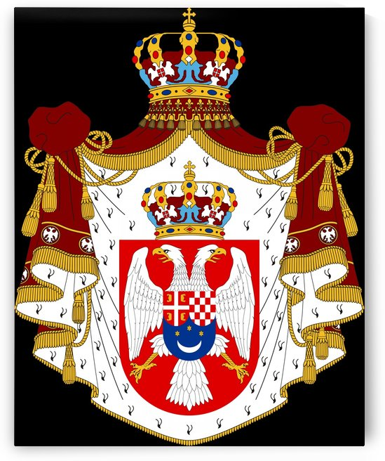 Kingdom of Yugoslavia Coat of Arms 1918-1945 by Fun With Flags