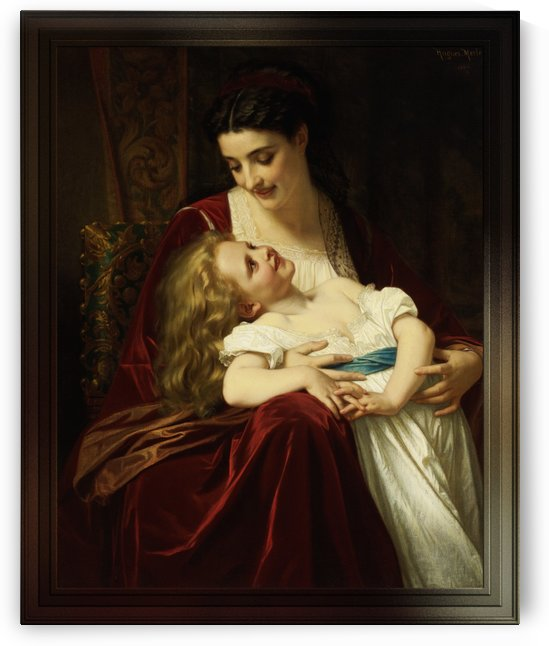 Maternal Affection by Hugues Merle French Fine Art Old Masters Reproduction by xzendor7