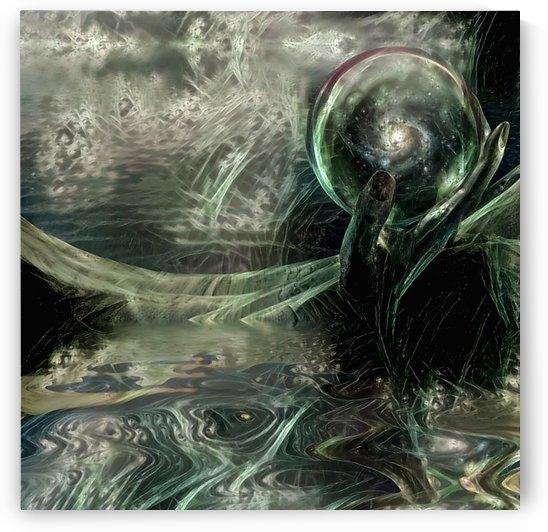 Galaxy in Crystal Ball by Bruce Rolff