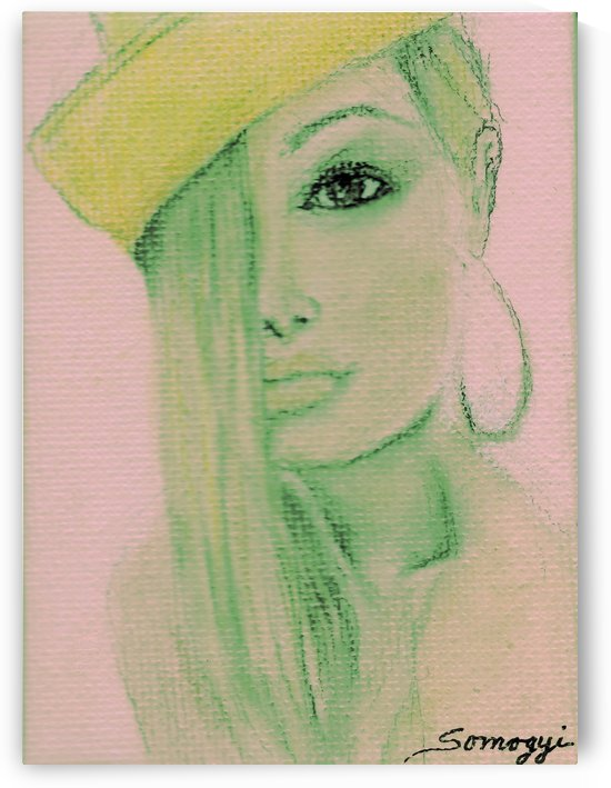 Blond Hair Yellow Hat -- Preppy by Jayne Somogy
