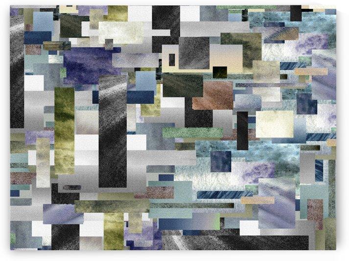 Gray Geometry Watercolor Geometrics Decorative Blocks XIII by Irina Sztukowski