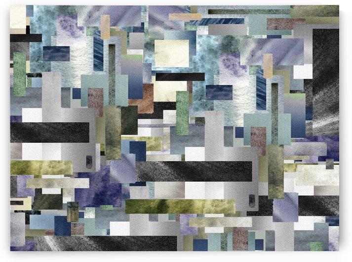 Gray Geometry Watercolor Geometrics Decorative Blocks XV by Irina Sztukowski