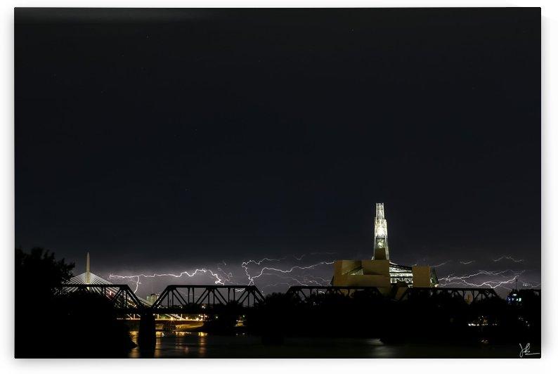 Winnipeg Skyline Storm by Jackson Brown