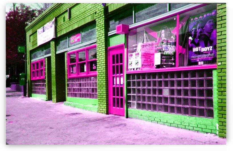 Atlanta Street Scene -- Fuchsia & Lime by Jayne Somogy