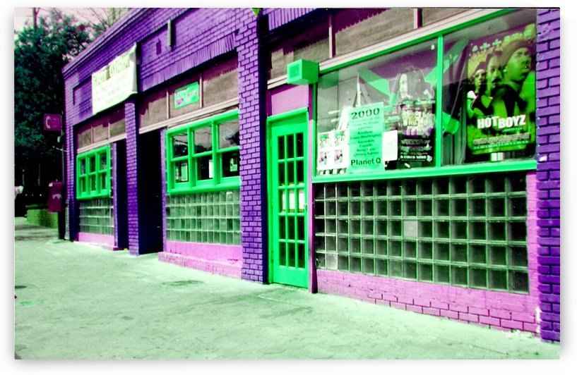 Atlanta Street Scene -- Purple & Green by Jayne Somogy
